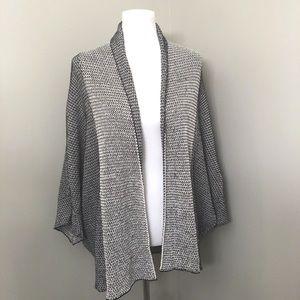 Zara Knit Black/White dolman sleeve open cardigan